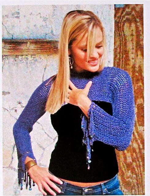 100% simple slip stitches in silk yarn yields a stretchy, trendy drape.