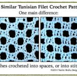 Tunisian Filet: Alternating Blocks and Spaces