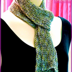 Simple Slip Stitch Crochet Pattern: Slipster Slackscarf