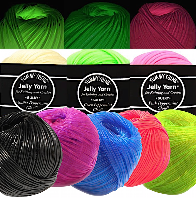 All eight colors of Jelly Yarn® Bulky (CYC #4 medium weight)