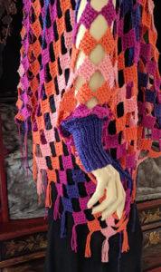 Mamruana Crochet-Along edging test: 3-inch fringe.