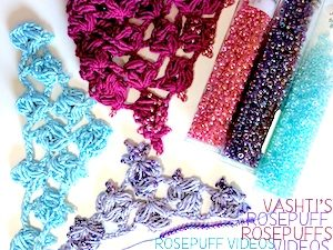 Rosepuff crochet videos by Vashti.