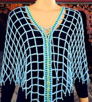 Aquarienne breaks usual Tunisian crochet pattern conventions