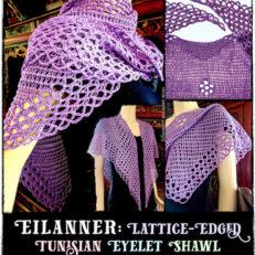 Eilanner Shawl by Vashti Braha: Lattice-Edged Tunisian Eyelets