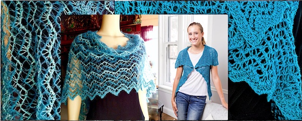 Tunisian ripple stitch Ziggy Vest with its variation Zegue