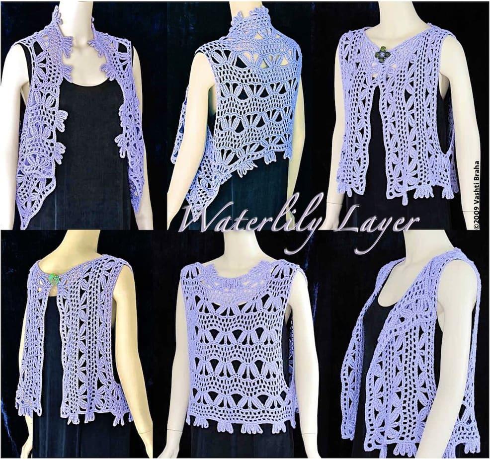 Six views of wearing simple vest shape