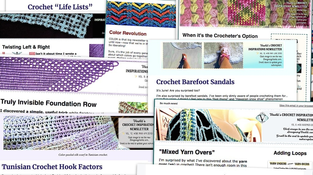 Crochet newsletter archive topic excerpts