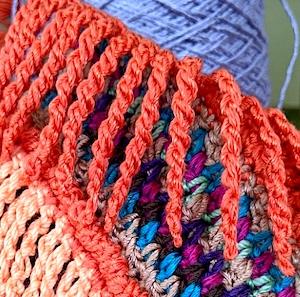 No-foundation tall stitch as fringe